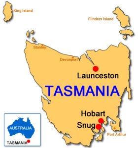 Tasmania - map